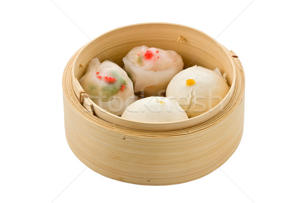 Dim Sum in Bamboo Steamer Stock photo © raptorcaptor