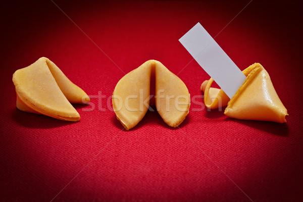 Kurabiye üç bir kırık mesaj kırmızı Stok fotoğraf © raptorcaptor
