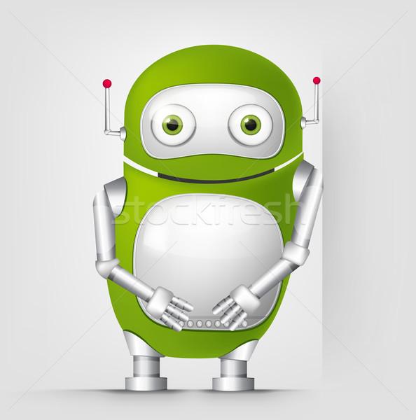 かわいい ロボット 孤立した グレー 勾配 ストックフォト © RAStudio