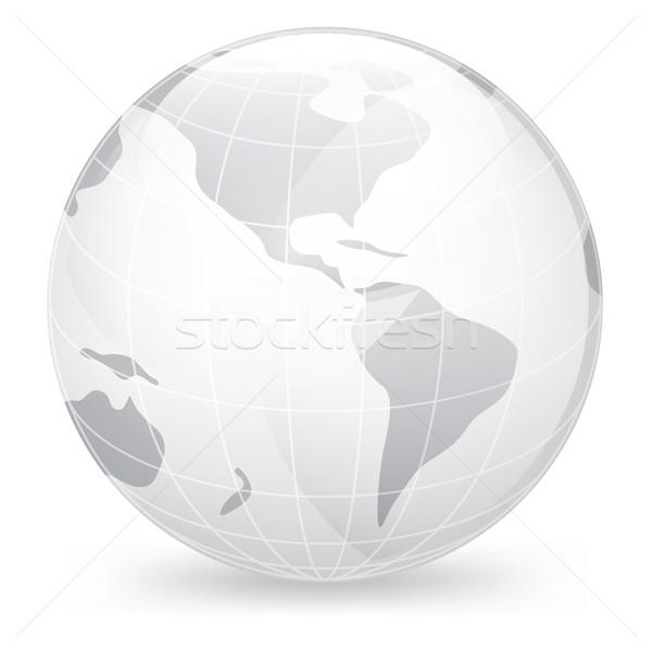 Icono mundo aislado blanco vector mapa Foto stock © RAStudio