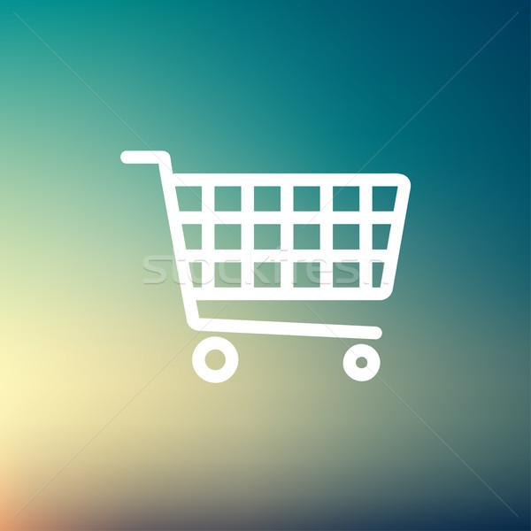 Shopping cart thin line icon Stock photo © RAStudio