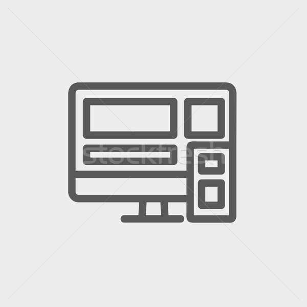 Responsive web design thin line icon Stock photo © RAStudio
