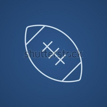 Football ball thin line icon Stock photo © RAStudio