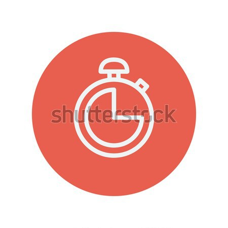 Stopwatch thin line icon Stock photo © RAStudio