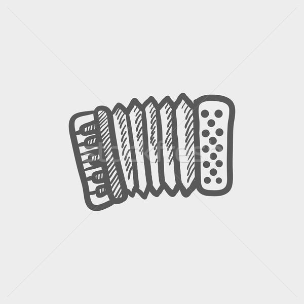 オルガン スケッチ アイコン ウェブ 携帯 手描き ストックフォト © RAStudio
