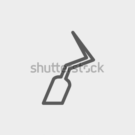 Dental scraper icon drawn in chalk. Stock photo © RAStudio