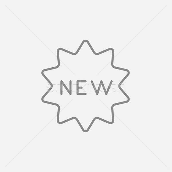 New tag line icon. Stock photo © RAStudio