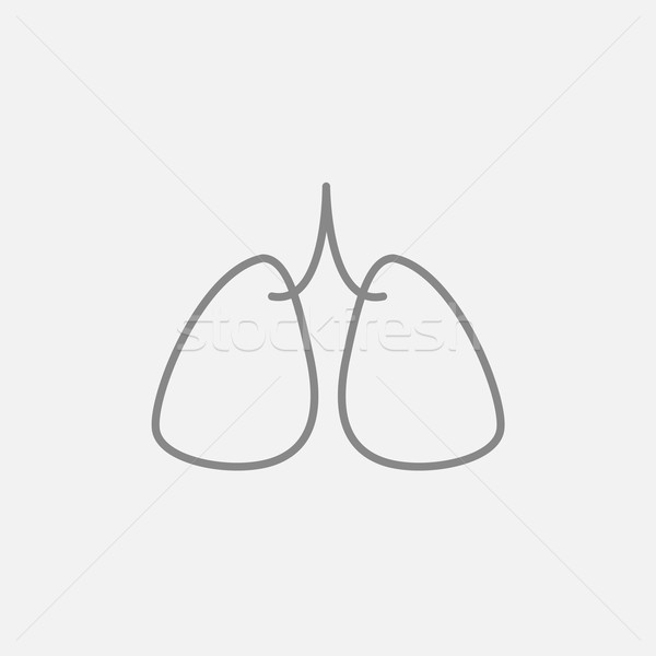 Lungs line icon. Stock photo © RAStudio
