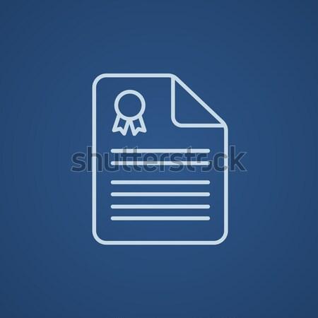 Real estate contract line icon. Stock photo © RAStudio