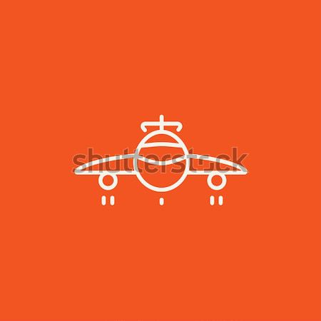 Airplane line icon. Stock photo © RAStudio