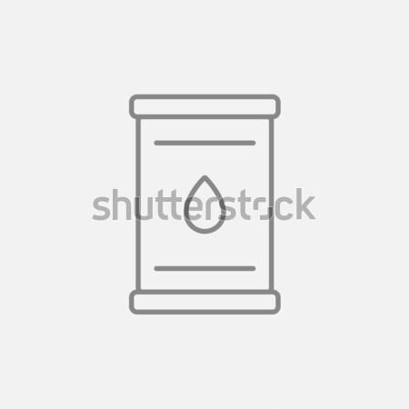 Stockfoto: Olie · vat · lijn · icon · web · mobiele