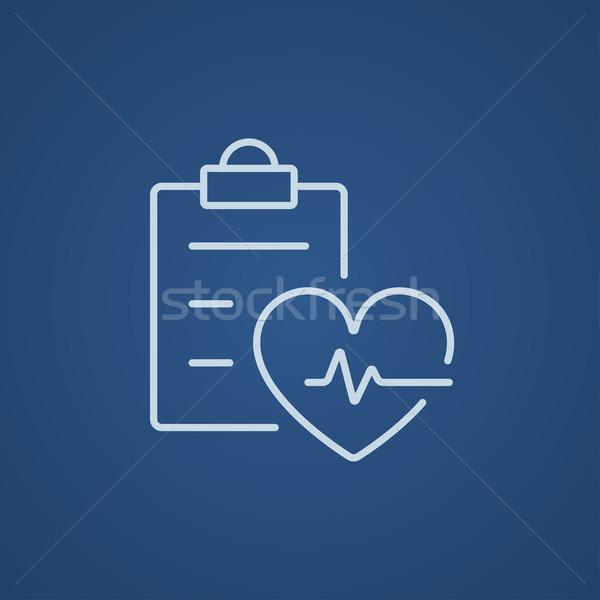Latido del corazón registro línea icono web móviles Foto stock © RAStudio