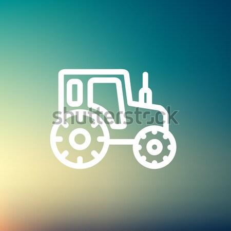 Tractor line icon. Stock photo © RAStudio