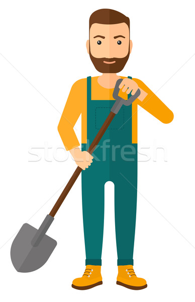 Farmer with spade. Stock photo © RAStudio