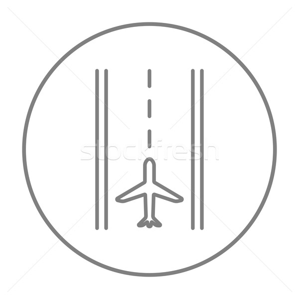 Airport runway line icon. Stock photo © RAStudio