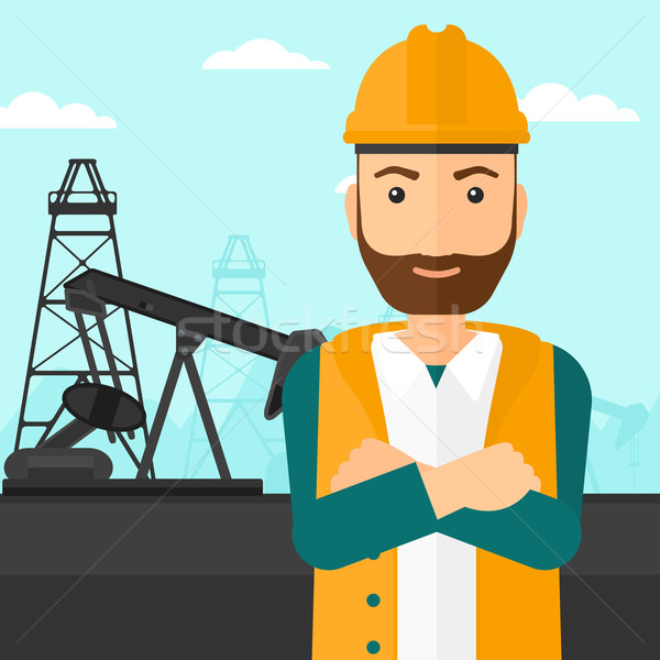 Cnfident oil worker. Stock photo © RAStudio