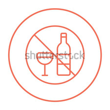 Botella vino línea icono web móviles Foto stock © RAStudio