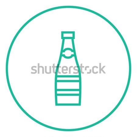 Vidro garrafa linha ícone teia móvel Foto stock © RAStudio