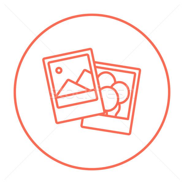 Fotoğrafları hat ikon web hareketli infographics Stok fotoğraf © RAStudio