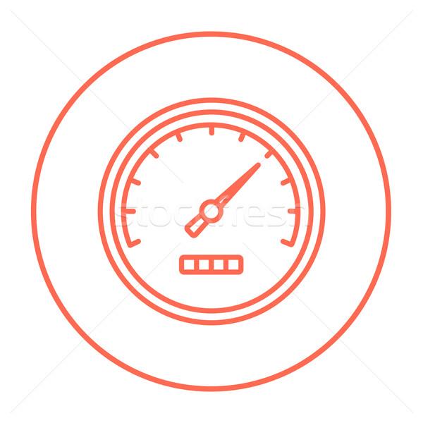 Snelheidsmeter lijn icon web mobiele infographics Stockfoto © RAStudio