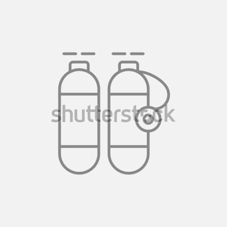 Oxygen tank line icon. Stock photo © RAStudio