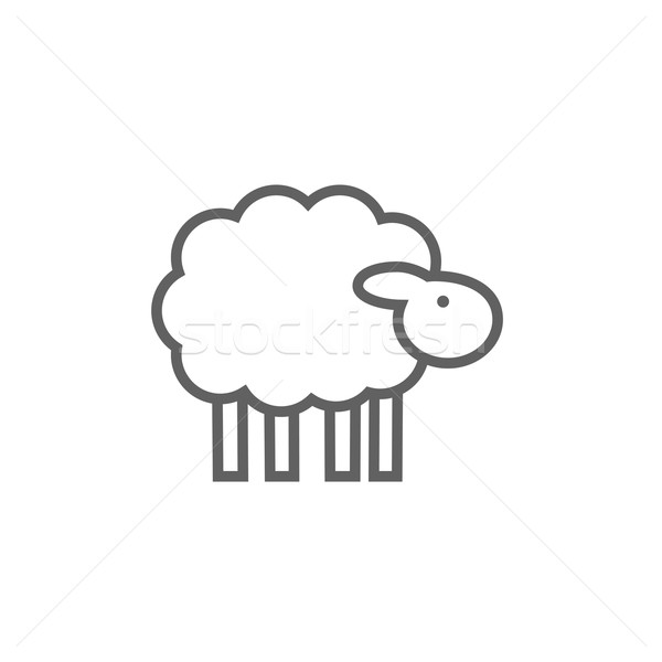 Sheep line icon. Stock photo © RAStudio