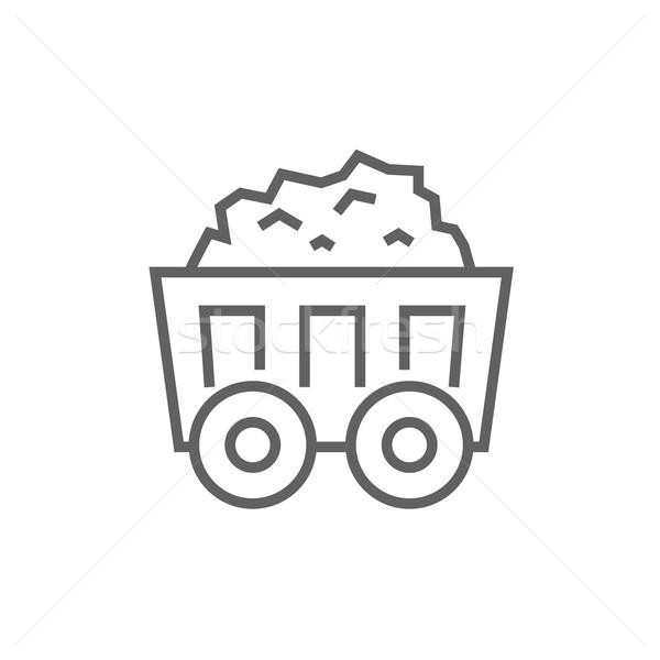 ストックフォト: マイニング · 石炭 · カート · 行 · アイコン · ウェブ