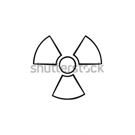 Radiación signo línea icono esquinas web Foto stock © RAStudio