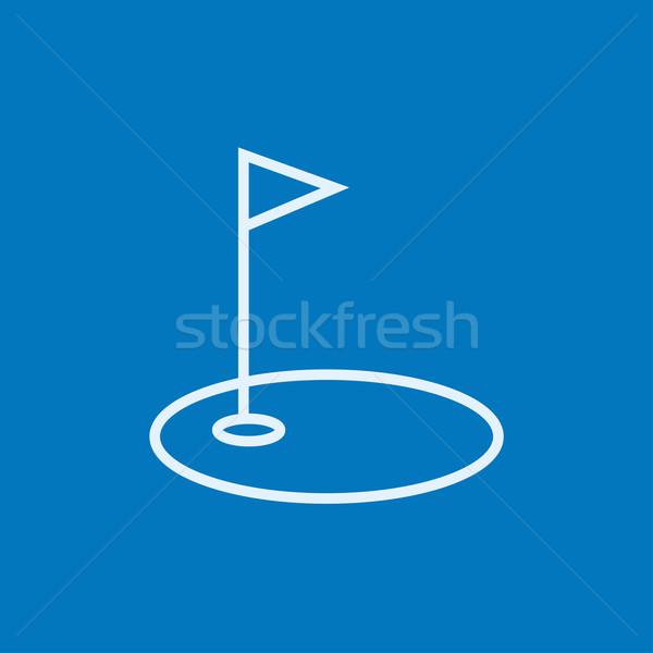 Сток-фото: гольф · дыра · флаг · линия · икона · уголки