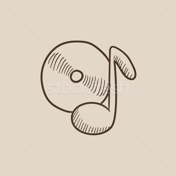 Note with disk sketch icon. Stock photo © RAStudio