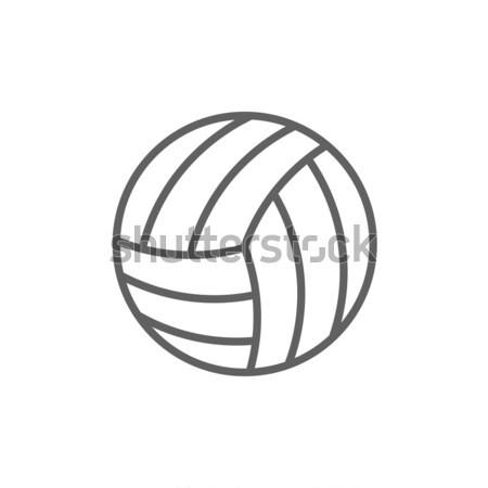 バレーボール ボール 行 アイコン コーナー ウェブ ストックフォト © RAStudio