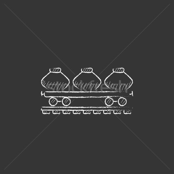 貨物 ワゴン チョーク アイコン 手描き ストックフォト © RAStudio