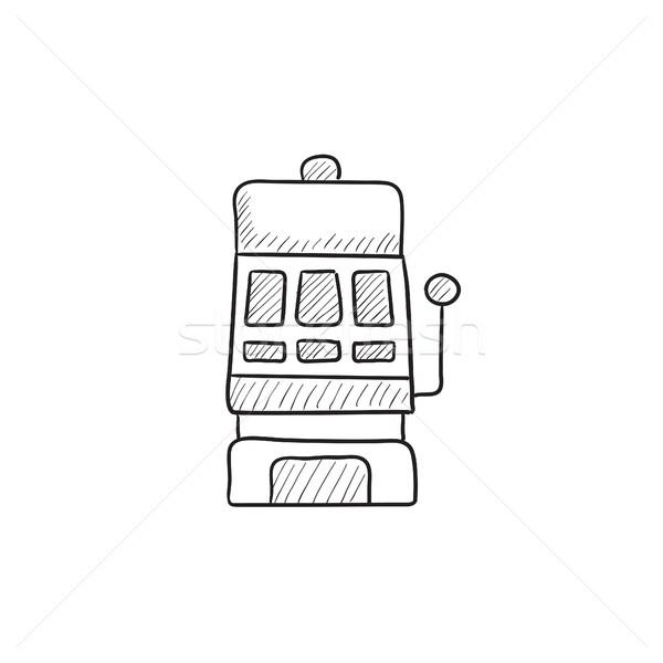 Játékautomata rajz ikon vektor izolált kézzel rajzolt Stock fotó © RAStudio