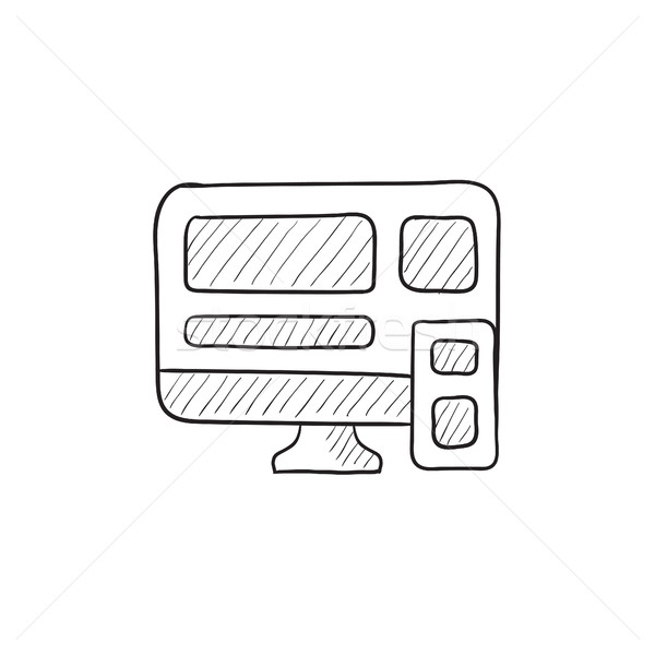 Responsive web design sketch icon. Stock photo © RAStudio