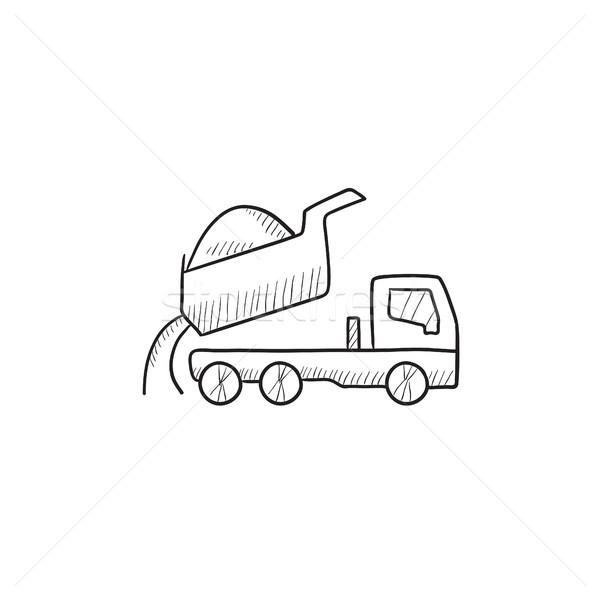 Camión boceto icono vector aislado dibujado a mano Foto stock © RAStudio