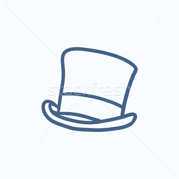 Top hat sketch icon. Stock photo © RAStudio