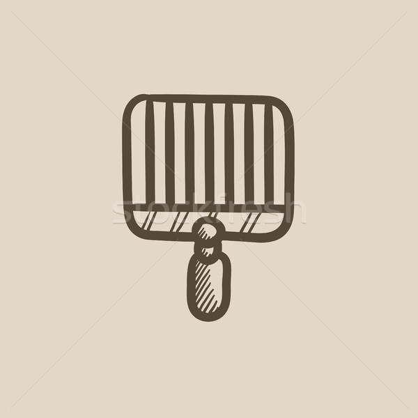Empty barbecue grill grate sketch icon. Stock photo © RAStudio