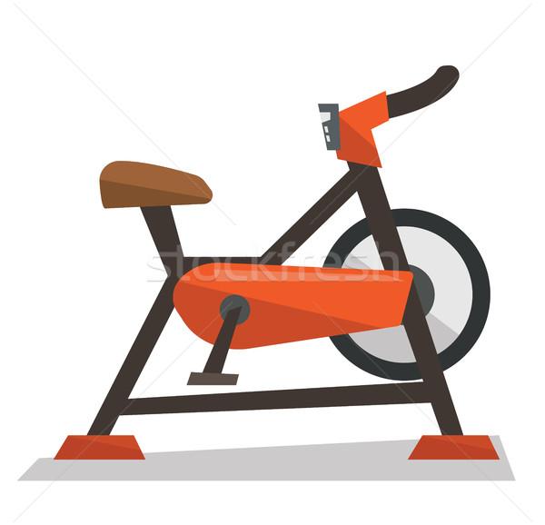 Mozdulatlan testmozgás bicikli vektor terv illusztráció Stock fotó © RAStudio