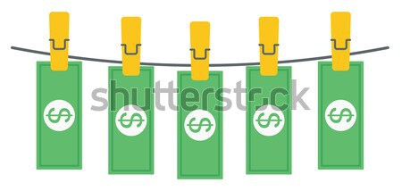 laundered dollars on rope vector illustration. Stock photo © RAStudio