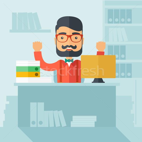 Successful office clerk. Stock photo © RAStudio