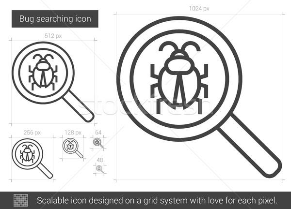 Rovar keres vonal ikon vektor izolált Stock fotó © RAStudio