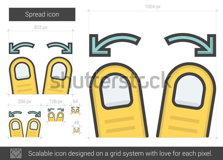Spread line icon. Stock photo © RAStudio