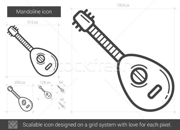 Mandoline line icon. Stock photo © RAStudio