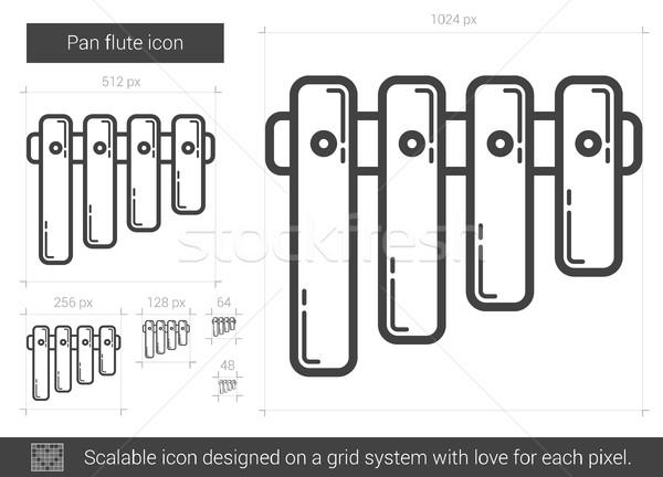 Panela flauta linha ícone vetor isolado Foto stock © RAStudio