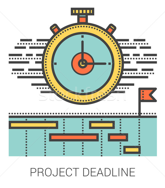 Projet date limite ligne métaphore icônes Photo stock © RAStudio