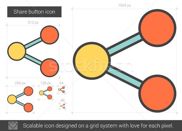 кнопки линия икона вектора изолированный белый Сток-фото © RAStudio