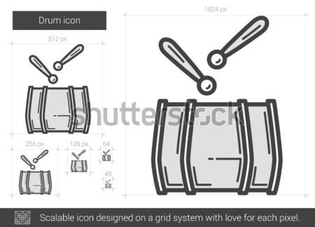 Drum line icon. Stock photo © RAStudio