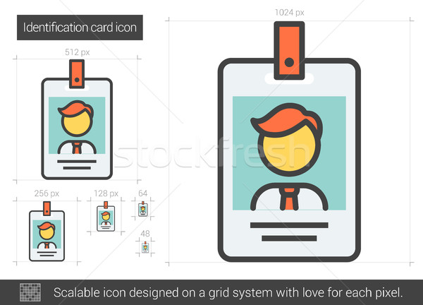Identification card line icon. Stock photo © RAStudio