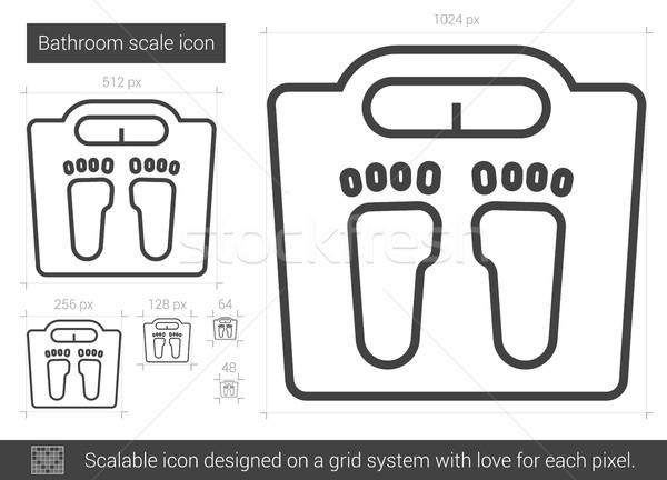 Stock photo: Bathroom scale line icon.
