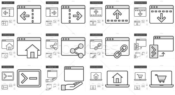 Application line icon set. Stock photo © RAStudio